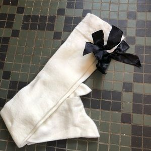 Accessories - NWOT Adult Knee High Socks with Black Bows